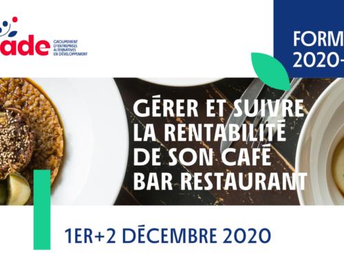 """Formation """"Gérer et suivre la rentabilité de son café bar restaurant"""""""